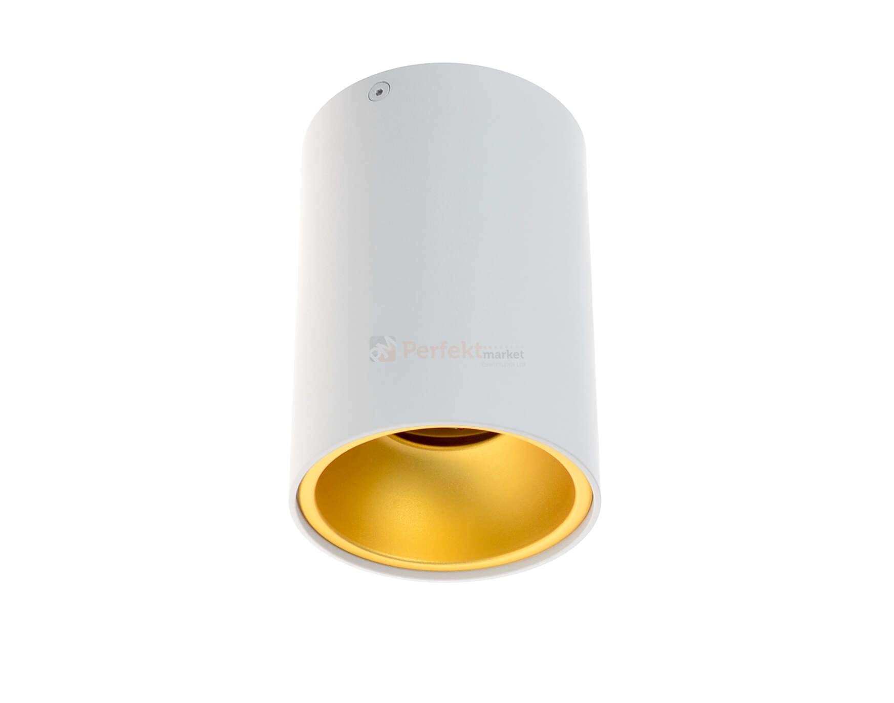 Oprawa Sufitowa Tuba Biało Złota Plafon Spot Kivi Kpkiwhg