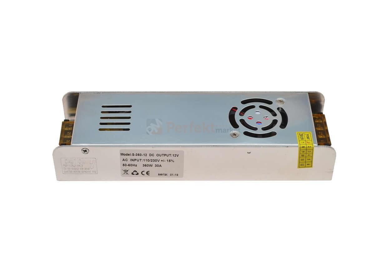 Zasilacz Instalacyjny Led 360w 12v 30a Ip20 Małe Rozmiary