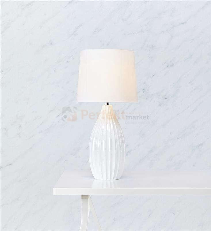 Lampa Stołowa Klasyczna Ceramiczna Stephanie Markslojd 106887 Biała