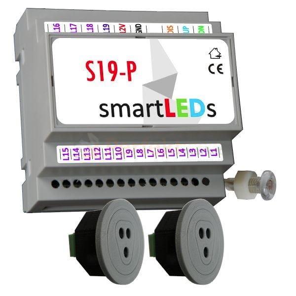 Sterownik Oświetlenia Schodów Led Z Czujką Ruchu I Efektem Fali S19 P