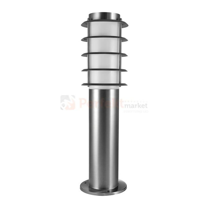 Lampa ogrodowa Serena 45 cm inox E27 tuba + rastry Polux 204523