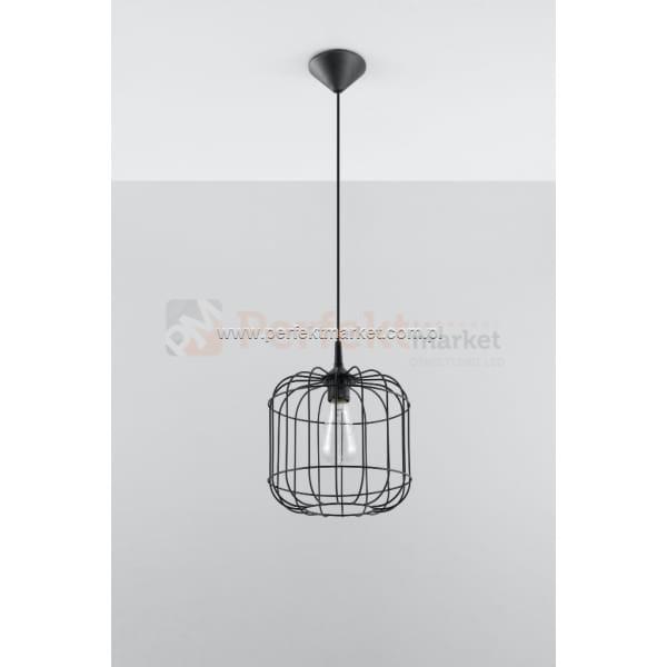 Lampa wisząca druciana design Celta czarna loft design