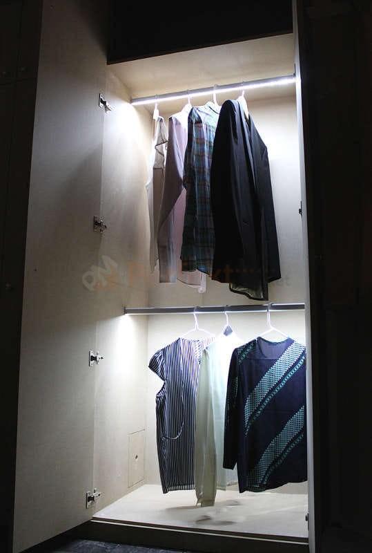 Drążek LED do szafy podświetlany 2 stronnie Oświetlenie ZESTAW