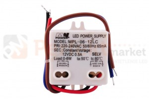Zasilacz LED 6W 12V 0.5A IP20 MW-06-12