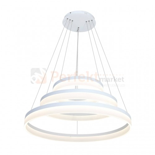 Lampa wisząca pierścieniowa LED Ring 409 Milagro biała